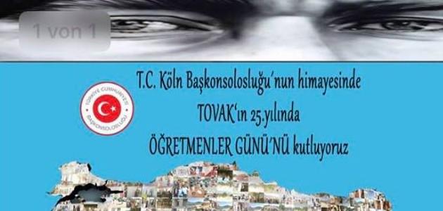 TOVAK, kuruluşunun 25. Yılını fikren doğduğu Almanya/Köln'de 24 Kasım Öğretmenler Günü'nde kutladı