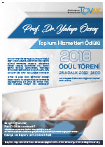 2018 Prof. Dr. Yahya Özsoy Ödülü